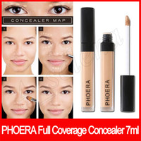 ماكياج الوجه Phoera التغطية الكاملة المخفي 10 لونا طويل الأمد مشع دسم المخفي 7ML ماتي لينة أساس سائل الشحن المجاني