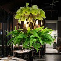 Pranzo Camera a Tema decorazione del salone Pendant Light Bar Music Restaurant Cafe Green Plant lampada a sospensione industriale commerciale lampada a sospensione
