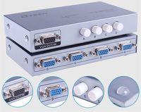* 1600 HD tak ve 4x1 4 giriş 1 çıkış 4 port VGA video Anahtarı Sıcak öğe Kamera Monitör Multimedya Öğretim Düğmesi 2560