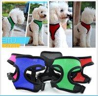 Hayvan Mesh Köpek Tasması Köpek Harness Yelek Eğitim Suit Küçük Orta Köpekler Kediler Göğüs Kayışı Pet Giyim BBA3