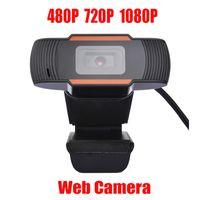 Cámara web HD Webcam nueva cámara 30fps 480P / 720P / 1080P PC incorporado acústicos absorbentes del sonido del micrófono USB 2.0 Grabación de vídeo para la computadora para PC portátil