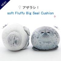 Netter 80cm Super Soft Sea Dog Seals Puppe-Plüsch-Spielzeug, unten Cotton Kissen-Kissen, Ornament Weihnachts Kid, Mädchen-Geburtstags-Geschenk, Dekoration 4-1