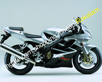 Für Honda Cowling-Teile CBR600 F4i 2001 2002 2002 2003 CBR600F4i CBR 600 CBRF4I Black Silber Motorradverkleidung (Spritzgießen)