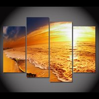 Framework Canvas Paintings Wall Art 4 Panel Space Planets St...
