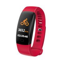 F64 Smart-Armband Blut-Sauerstoff-boold Druckmessgerät GPS wasserdicht intelligente Wrsitwatch Schlaf-Tracker Fitness Smart Watch für iPhone und Android