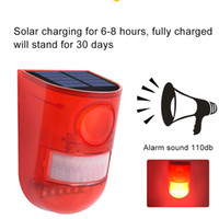Umlight1688 Solar Powered Sound Alarm Strobe Light Flashing ...
