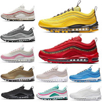 Nike air max  97 airmax 97 recente Red Leopard brilhante Citron OG 97 Mens Running Shoes herói azul tênis 97s Womens Designer Sports Sneakers Ginásio formadores Tamanho 36-45