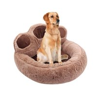 Long Plush Super Soft Pet Cat Bed Kennel Dog Round Cat Winter Warm Sleeping Bag Puppy Cushion Mat Portable Supplies
