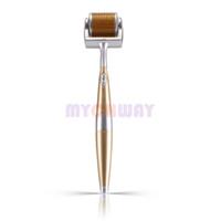 العناية الدقيقة ديرما الرول مكافحة التجاعيد التيتانيوم DermaRoller القلم الجلد الصغيرة إبر 360 درجة رئيس الدورية