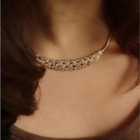 Girocollo catena della collana del serpente di colore Pane oro argento torsione placcato impostazione regalo Collana Donne acrilico bianco
