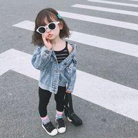 venta caliente de la capa de la niña de la ropa del otoño Niños Prendas de abrigo Niño Chaquetas Niños Tops Jeans Wear White Denim