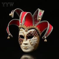 Máscaras unisex de Venecia Máscara de la fiesta Máscara de la mascarada Navidad Disfraces venecianos de Halloween Carnaval Anónimo Máscaras Suministros festivos