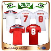 1980/1983 Retro versiyonu İngiltere Ev Futbol Formalar 1980 7. KEEGAN 8. FRANCIS Futbol Formalar WILKINS McDermott MARINER Futbol forması