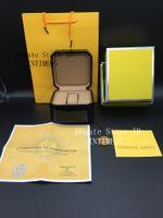 Guarda il caso di legno Scatole di qualità migliore Nero 1884 Scatola di legno Opuscoli Carte Guarda orologio di lusso Include sacchetto del certificato