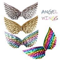 New Halloween asas de anjo partido adereços desempenho cosplay infantil adereços asas cor unicórnio asas para crianças venda quente