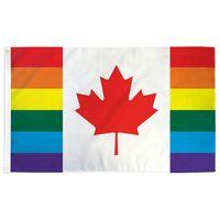 Kanada Regenbogen Homosexuell Lgbt-Stolz-Flagge 3x5 ft Hot Selling Großhandel Polyester-Fliegen-Flaggen, freies Verschiffen