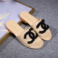 New summer women' s slippers French brand leather beaded...