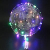 Griff LED-Ballon leuchtend transparent Helium Bobo Ballons Hochzeit Geburtstag Kinder LED-Lichtballon Party Dekorationen IIA135
