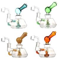 ROYAL 5 pouces mini-bong en verre tuyau d'eau de plate-forme pétrolière de recyclage des tubes barboteur narguilé femelles plates-formes dab 14.5mm avec quartz Banger livraison gratuite