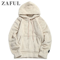 ZAFUL Men Hoodies Men Pullover Dress Female Pouch Pocket Pat...