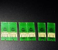Chip de nivel de tinta de 700 ml para la impresora Epson surelab D3000, chip de cartucho de tinta de reemplazo de 6pc / set para impresora Epson D-3000