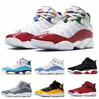 2020 nuovo colore 6 anelli di uomini scarpe da basket UNC AZZURRO FURY Concord Multicolor Space Jam 6s donne mens formatori Sneakers Sport 36-47
