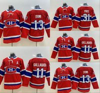 Juvenil Montreal Canadiens 13 Max Domi 11 Brendan Gallagher 31 Carey Price Kids Hockey Jerseys Double Stiched High Quanlity Rojo