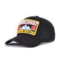 مصمم الكلاسيكية قبعة بيسبول الرجال قبعة سنببك DSQICOND2 سقف رسالة التطريز جودة عالية للجنسين Casquette غولف قبعة D166