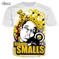 Hop Fashion T shirt di New Hip Rapper 2pac Tupac / Biggie Smalls 3D Print uomo Donne Harajuku parti superiori delle magliette plus size Pullover