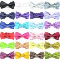 Cravate bébé couleurs solides cravate arc couleur des bonbons arc garçons mariage cravate filles 35 couleurs arc liens chien Apparel2000pcs T1I1600