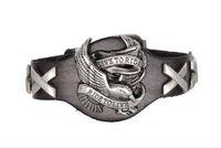 Raffreddare uomini donne punk Harley Rider braccialetto di cuoio genuino avvolgere vivere per guidare la moda multicolore aquila braccialetto di fascino braccialetto 10 pz HJIA972