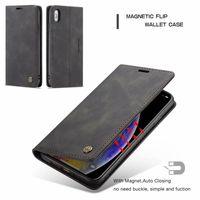 iPhone 12 11Pro Max XS Max XR 8 7 6s 플러스 삼성 S20 S10 플러스 Note10 마그네틱 클로저 ID 슬롯 플립 커버