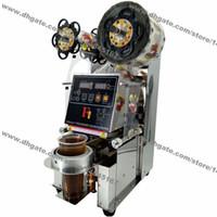 Free Shipping 90/95 millimetri in acciaio inox 110v 220v elettrico Auto Boba Bubble Tea Cup Sealer Sigillatrice