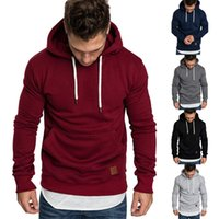 Panelled Mens Designer Hoodies Casual Loose Big Pocket Long ...