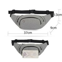 Durable Men Fanny Waist Pack Belt Hip Bum Solid Running Pouc...