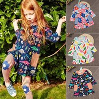 Girls floral dresses 3 styles Autumn Printed Girls Princess ...