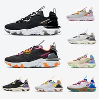Nike 2020 Black Iridescent React Vision mens running shoes Gravity Purple Honeycomb Photon Dust Saffron Desert men women sports designer sneakers