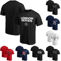 Herren 2019 Baseball London Series Primär Logo T-Shirt Red Sox Yankees T-Shirt Schwarz Rot S-XXXL T-Shirt