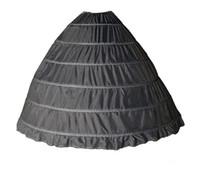 Hızlı Kargo Siyah Beyaz Balo Petticoats ile Kayma 6 Hoop Artı Boyutu Crinoline Quinceanera Elbise Için Özel Ucuz Kat Uzunluk