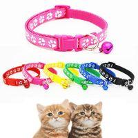 Neue Katzen-Mode-Dog abbrechbar Halsband Sicherheit likesome Hundehalsband Empfindliche Camo beiläufige Nylon Verstellbare Kitten Bell-XD22453