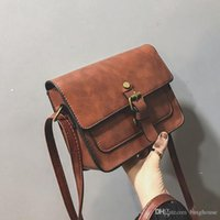 Nuevo Vintage Vintage Flap Moda Casual Bolsos de hombro de cuero Lady Crossbody Messenger Bag Elegant Envelop Clutch Purse