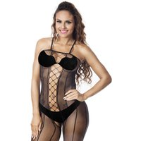 2020 Womens Designer Underwear Jacquard Hollow Out Lace Sexy Socks Camisole Black One Piece Female Clothing