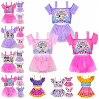 Cartoon Surprise Dolls Swimsuit Baby Girls Swimwear with Tul...