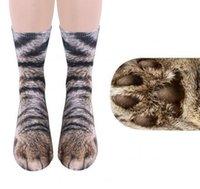 Adult Kids Animal 3D Socks Unisex Animal Foot Hoof Socks Printed Cat Dog Tiger Paw Feet Socks For Children adult Xmas Home Warm Stocking