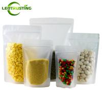 Leotrusting 100 pçs / lote Levante-se Fosco Plástico Saco Ziplock Saco De Embalagem de Exibição De Plástico Matt Doypack Plástico Alimentar Lanche Saco De Armazenamento De Porcas