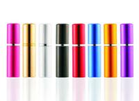 Precio al por mayor de 5 ml Mini Spray Botellas botella de perfume de viaje recargable vacío botella de perfume del envase cosmético atomizador de aluminio rellenables