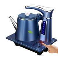 Elektrikli Tam Otomatik Su Isıtıcısı Demlik Seti 0.8L Paslanmaz Çelik Güvenlik Otomatik Kapalı Su Dağıtıcı Samovar Pompalama Soba Ev