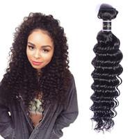 Extensions de cheveux vierges brésiliennes 8-30inch Vague profonde One Bundles Deep Curly Couleur Naturelle Couleurs Humains Produits Double Wefts