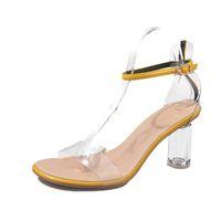 Sandales pour femmes en cuir PU chaussures 8cm sandales à talons hauts Mode de luxe de la mode féminine chaussures simples style sandales occasionnels dame TY-76