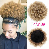 Synthétique cheveux bouclés Ponytail afro-américain court Afro Kinky bouclés Wrap Synthetic Drawstring Puff Pony Tail Hair Extensions